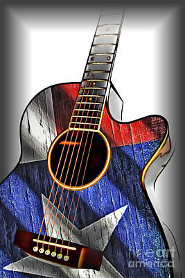 Photograph - Texas Guitar by Walt Foegelle