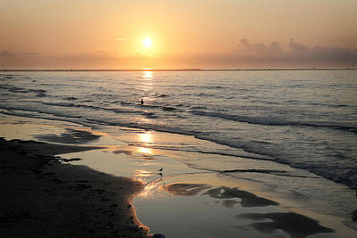 Photograph - Texas Gulf Coast At Sunrise by Marilyn Hunt