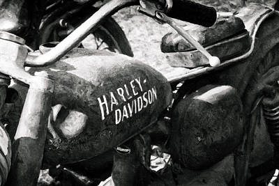 Photograph - Texas - Harley by Russell Mancuso