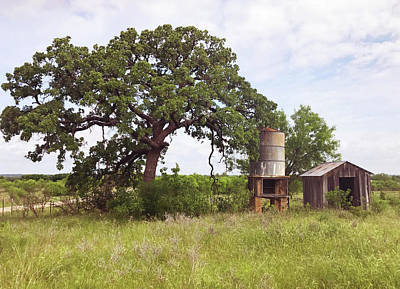 Photograph - Texas Hill Country by Art Block Collections