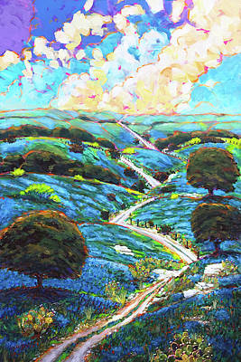 Wall Art - Painting - Texas Hill Country Spring by Charles Wallis