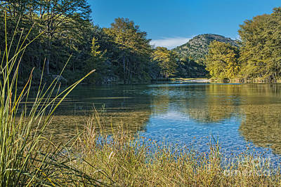 Reflexion Photograph - Texas Hill Country - The Frio River by Andre Babiak