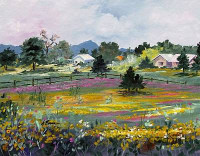 Texas Hillcountry Flowers Art Print