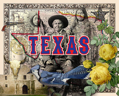 Painting - Texas Historical Montage by Gary Grayson