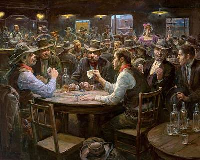 Doc Holiday Plaingtexas Hold Em Saloon Card Playing In The