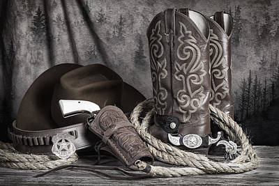 Lariat Photograph - Texas Lawman by Tom Mc Nemar