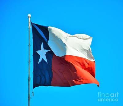 Photograph - Texas Lone Star Flag by Ray Shrewsberry