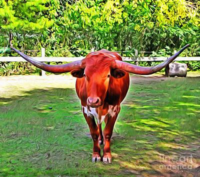 Texas Longhorn 2 Art Print by Nishanth Gopinathan