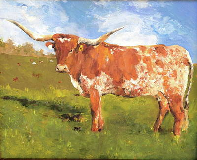 Painting - Texas Longhorn by Cheryl Green