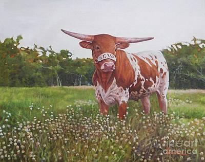 Painting - Texas Longhorn by Noe Peralez