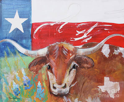 Painting - Texas Longhorn by Robin Maria Pedrero