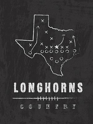 Texas Longhorns Country Art Print