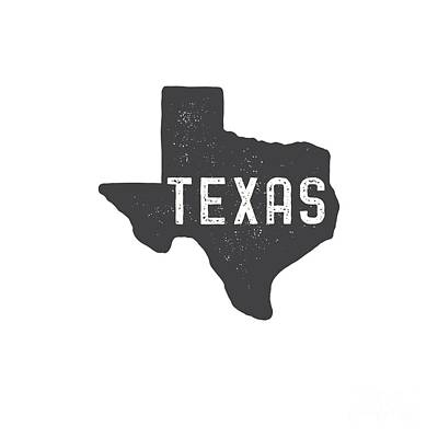 Digital Art - Texas Map Tee by Edward Fielding