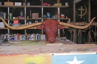 Texas Monster Longhorn Art Print by Michael Pasko