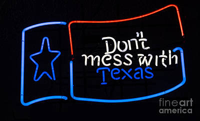 Mess Painting - Texas Neon Sign by Mindy Sommers