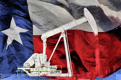 Photograph - Texas Oil Production by JC Findley