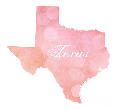Digital Art - Texas Pink And Coral Bokeh by Leah McPhail