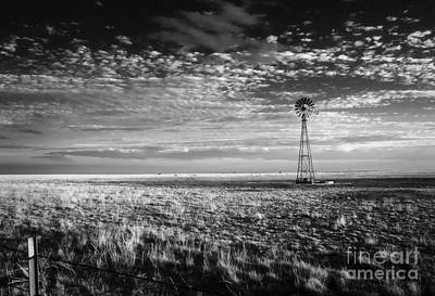 Texas Plains Windmill Art Print