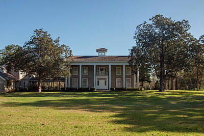 Photograph - Texas Plantation House by Joshua House
