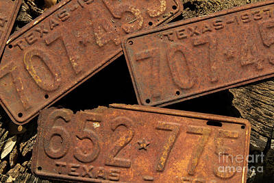 Photograph - Texas Plates by David Cutts