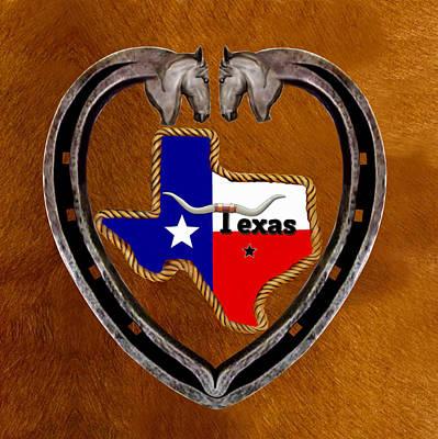 Longhorn Drawing - Texas Pride by Glenn Holbrook