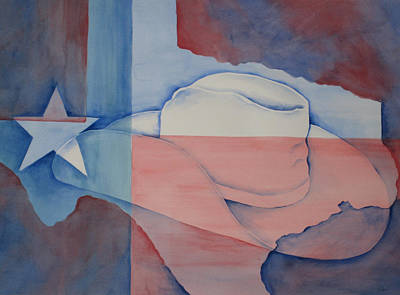 Lone Star State Painting - Texas Pride by Linda Bein