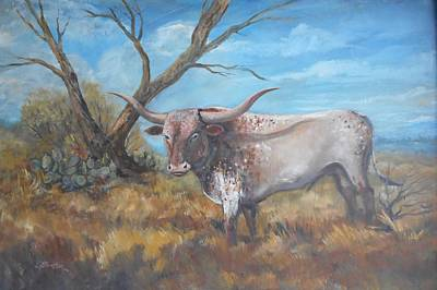 Lynn Burton Wall Art - Painting - Texas Pride by Lynn Burton