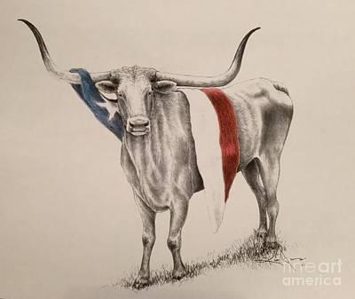Lone Star State Painting - Texas Proud by Kim Jones