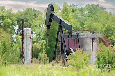Oil Pumper Photograph - Texas Pumper On Display by Darla Rae Norwood