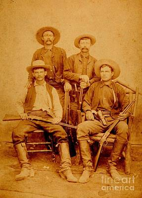 Photograph - Texas Rangers At Rio Grande City Texas Circa 1885 by Peter Gumaer Ogden Collection