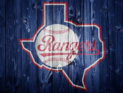Texas Rangers Barn Door Art Print