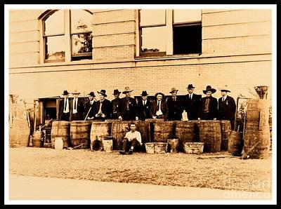 Photograph - Texas Rangers Grand Haul Of Bootleggers 1922 Near Tyler Texas by Peter Gumaer Ogden