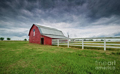 Photograph - Texas Red Barn by Patti Schulze
