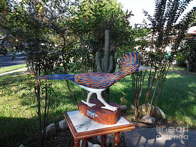 Roadrunner Mixed Media - Texas Roadrunner by Michael Pasko