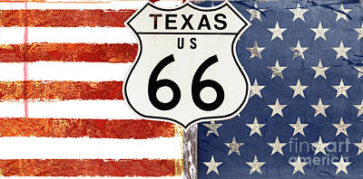 Texas Flag Painting - Texas Route 66 by Mindy Sommers