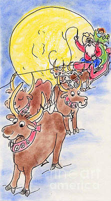 Pastel - Texas Santa by Vonda Lawson-Rosa