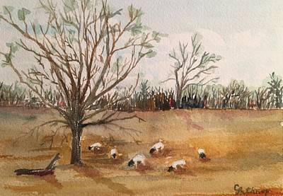 Painting - Texas Sheep by Christine Lathrop