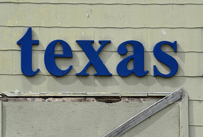 Photograph - texas Sign by Nikki Marie Smith