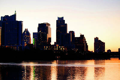 Photograph - Texas Skyline - Austin by Art Block Collections