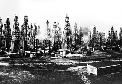 Texaco Wall Art - Photograph - Texas Spindletop Mega-oil Field 1901 by Daniel Hagerman