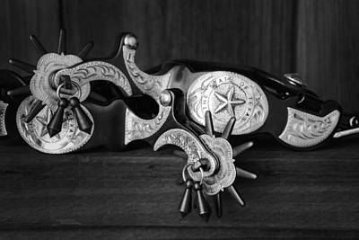 Tack Photograph - Texas Spurs by Tom Mc Nemar