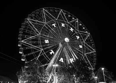 Photograph - Texas Star 061116 V2bw by Rospotte Photography