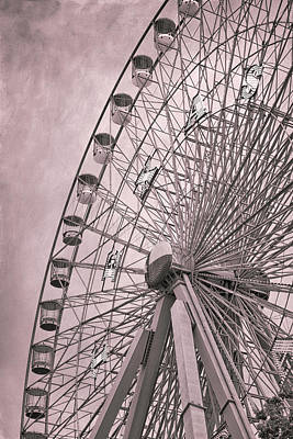 Ferris Wheel Photograph - Texas Star Copper by Joan Carroll