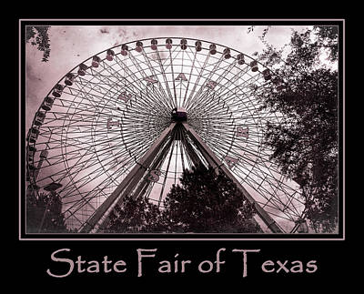 The Circle Game Photograph - Texas Star Copper Poster by Joan Carroll