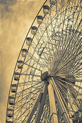 The Circle Game Photograph - Texas Star Gold by Joan Carroll