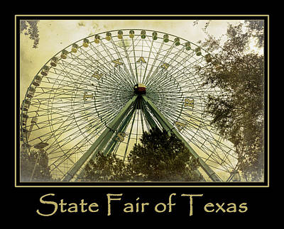 The Circle Game Photograph - Texas Star Gold Poster by Joan Carroll