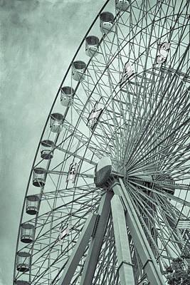 The Circle Game Photograph - Texas Star Green by Joan Carroll