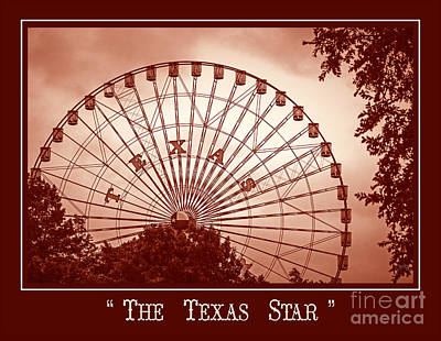 Photograph - Texas Star In Orange by Imagery by Charly