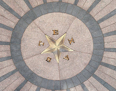Photograph - Texas Star On The Rotunda Floor by David and Carol Kelly