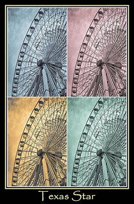 Carnival Photograph - Texas Star Poster 2 by Joan Carroll